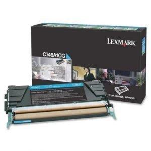Lexmark Värikasetti Syaani 7k C746/c748 Return