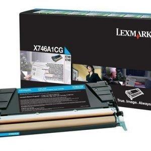 Lexmark Värikasetti Syaani 7k X746/x748 Return
