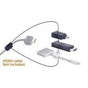 Liberty Av Solutions Digitalinx Hdmi Adapter Ring Dl-ar398 19-nastainen Hdmi Tyyppi A Naaras 20-nastan Näyttöporttiliitin Apple Lightning Mini Displayport Uros