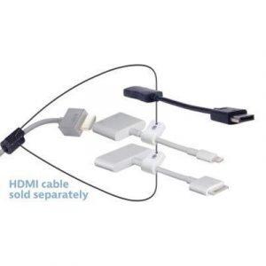 Liberty Av Solutions Digitalinx Hdmi Adapter Ring Dl-ar617 19-nastainen Hdmi Tyyppi A Naaras 20-nastan Näyttöporttiliitin Apple Lightning 30-nastainen Telakkaliitin Uros