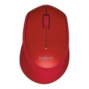 Logitech M330 Silent Plus Wireless Mouse Red Hiiri Punainen