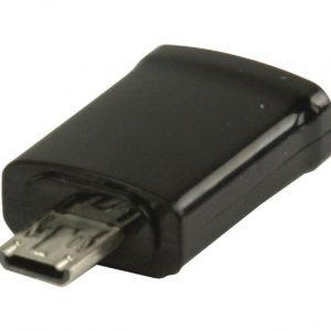 MHL-sovitin USB 11-napainen Micro B uros - USB 5-napainen Micro B naaras musta