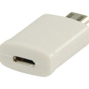 MHL-sovitin USB 11-napainen Micro B uros - USB 5-napainen Micro B naaras valkoinen