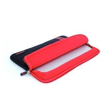 MacBook Pro 15 Cool Bananas RainSuit Stripes Retina Neopreeni Suojakotelo Punainen