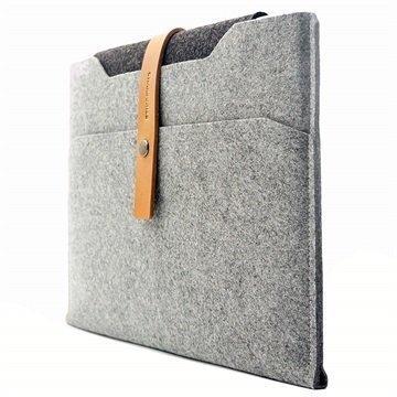 MacBook Pro Retina 15 Charbonize Sleeve-Kotelo Vaaleanharmaa / Keltaruskea