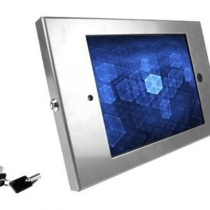 Maclocks Compulocks Ipad Secure Metal Jacket Enclosure With 45° Kiosk Silver