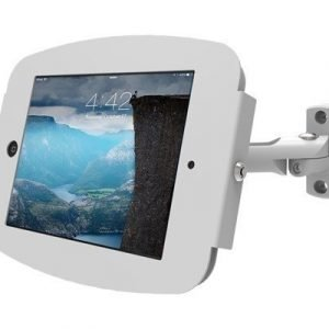 Maclocks Ipad Secure Space Enclosure With Swing Arm Kiosk White