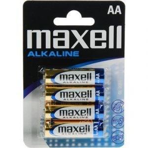 Maxell Alkaline Battery 4pcs Aa Lr06
