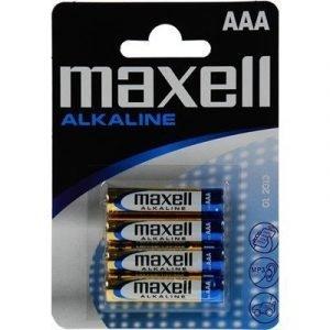 Maxell Alkaline Battery 4pcs Aaa Lr03