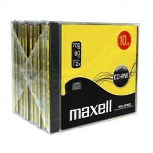 Maxell Cd-Rw80 12x 10 Kpl