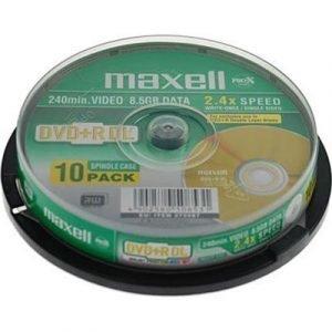 Maxell Dvd+r Dl X 10