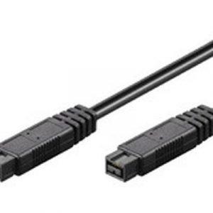 Microconnect Estuff Ieee 1394 -kaapeli 9-nastainen Firewire Uros 9-nastainen Firewire 800 Uros Musta Ieee 1394b 2m
