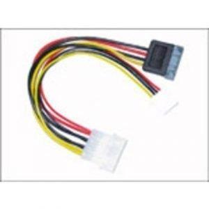 Microconnect Verkkosovitin 4-nastainen Mini-virtavastake 15-nastainen Serial Ata Virtaliitin 4-nastainen Sisäinen Virta Uros Musta Punainen Keltainen 0.1m
