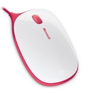 Microsoft Express Mouse Optinen Hiiri Valkoinen Punainen