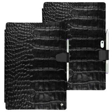Microsoft Surface 3 Noreve Tradition B Leather Case Horizon Crocodile - Black
