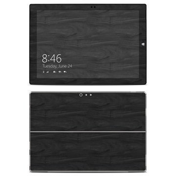 Microsoft Surface Pro 3 Black Woodgrain Skin