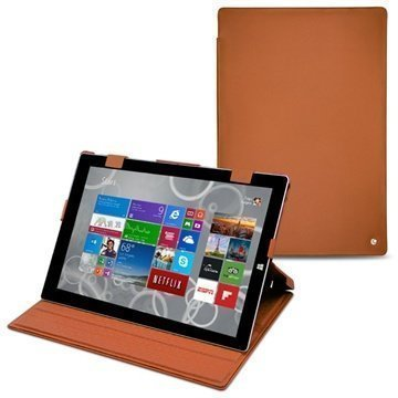 Microsoft Surface Pro 3 Noreve Tradition Nahkakotelo Perpétuelle Ruskea