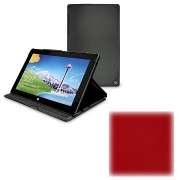 Microsoft Surface RT Noreve Tradition Leather Case Red