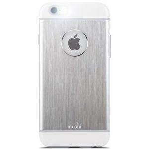 Moshi Iglaze Armour Takakansi Matkapuhelimelle Iphone 6/6s Hopean Valkoinen
