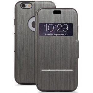 Moshi Sensecover Läppäkansi Matkapuhelimelle Iphone 6/6s Musta Metallinen