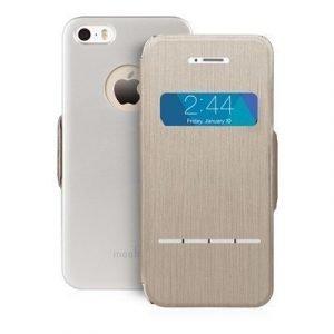 Moshi Touch Sensitive Läppäkansi Matkapuhelimelle Iphone 5/5s/se Titaanipronssi