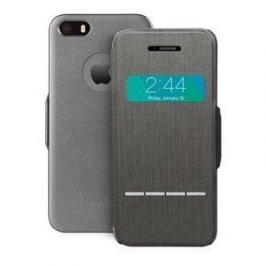 Moshi Touch Sensitive Läppäkansi Matkapuhelimelle Iphone 5/5s/se Tummanharmaa