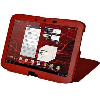 Motorola Xoom 2 Igadgitz Guardian Nahkainen Kotelo Punainen