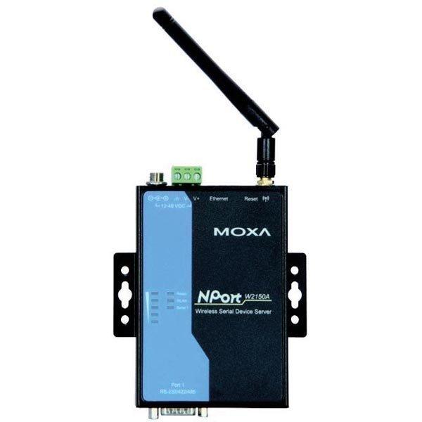 Moxa trådlös NPort sarjaporttipalvelin 1xRS-232/422/485 802.11a/b/