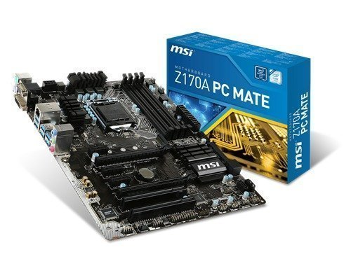 Msi Z170a Pc Mate Lga1151 Socket Atx