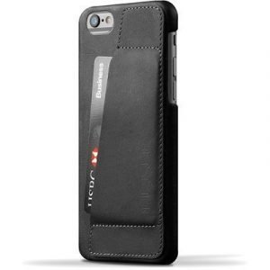 Mujjo 80 Leather Wallet Case Iphone 6/6s Musta