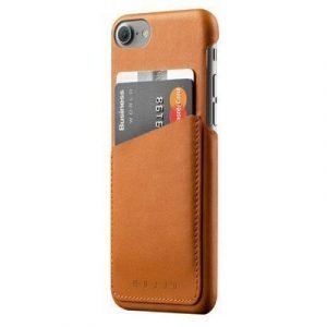 Mujjo Leather Wallet Case Iphone 7 Ruskea