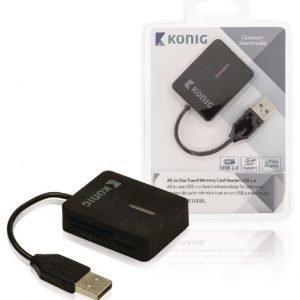 Mukaan otettava all-in-one-muistikortinlukija USB 2.0