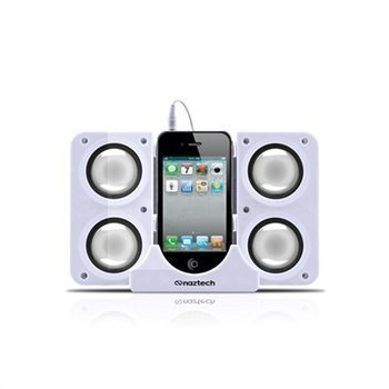 Naztech N40 Portable Dock Speaker White