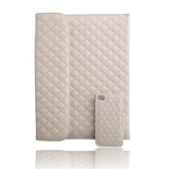 Naztech Paris Combo iPhone 4 / 4S Case & iPad 3 iPad 4 iPad 2 Cover Beige