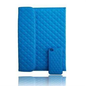 Naztech Paris Combo iPhone 4 / 4S Case & iPad 3 iPad 4 iPad 2 Cover Blue