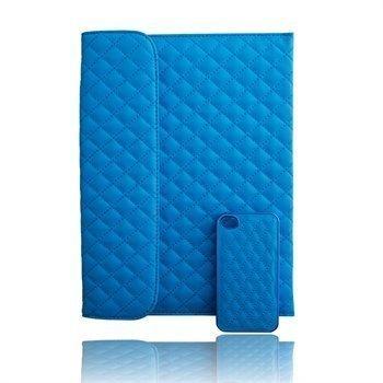 Naztech Paris Combo iPhone 4 / 4S Case & iPad 3 iPad 4 iPad 2 Cover Blue