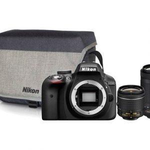 Nikon D3300 + Af-p 18-55 + Af-p 70-300 + Cf-eu11 Kameralaukku