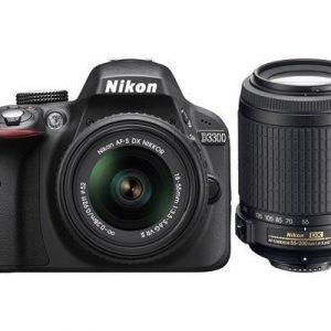 Nikon D3300 + Af-p Dx 18-55 G Vr Ii + Af-s Dx 55-200 Vr Ii