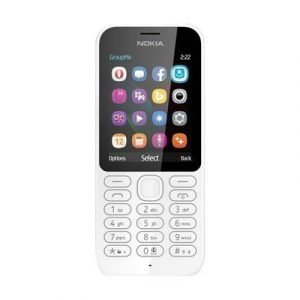 Nokia 222 Valkoinen