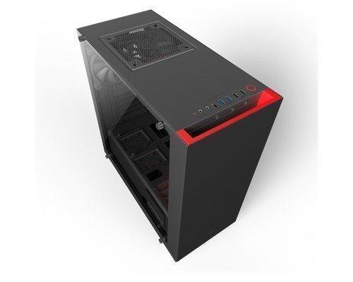 Nzxt S340 Elite Black/red Musta Punainen