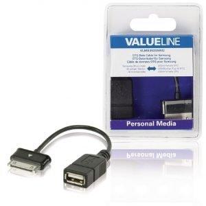 OTG-datakaapeli Samsungille 30-napainen uros - USB A naaras musta 0 20 m