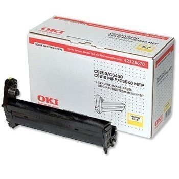 Okidata C 5250 C 5450 C 5540 MFP Drum 42126670 Yellow