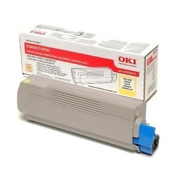 Okidata C 5550 MFP C 5800 C 5900 Toner 43324421 Yellow