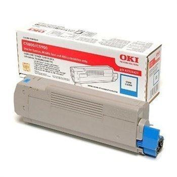 Okidata C 5550 MFP C 5800 C 5900 Toner 43324423 Cyan