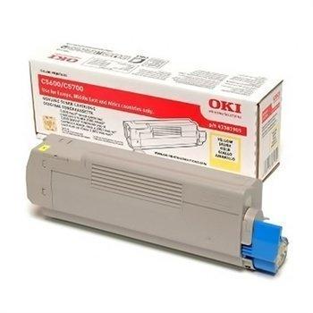 Okidata C 5600 C 5700 Toner 43381905 Yellow
