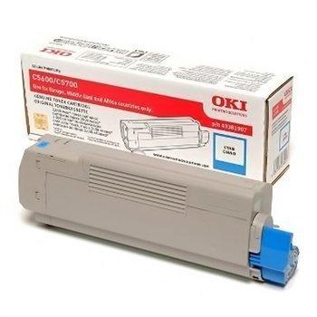 Okidata C 5600 C 5700 Toner 43381907 Cyan