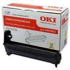 Okidata C 5850 C 5950 Drum 43870021 Yellow