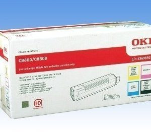 Okidata C 8600 Toner Kit 43698501 Black Cyan Magenta Yellow