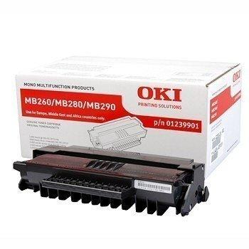 Okidata MB 260 MB 280 MB 290 Toner 01239901 Black
