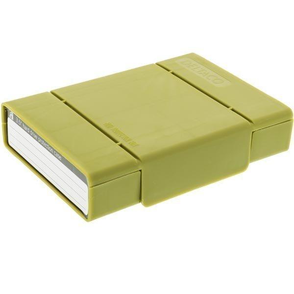 """Orico Säilytyskotelo 1x3 5 tai 4x2 5"""" levylle vihreä"""""""